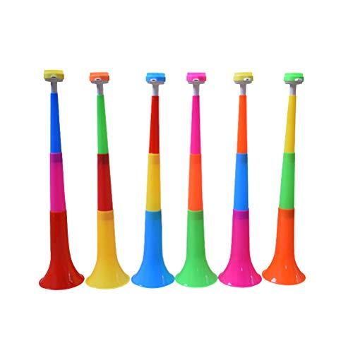 STOBOK 10pcs Party Horns Noisemakers Kids Trumpet Toy Instrument Vuvuzela Collapsible Stadium Horn for Toddlers Soccer Fan