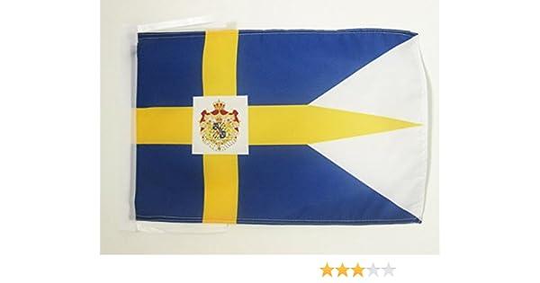 AZ FLAG Bandera Reino DE Suecia 45x30cm - BANDERINA Sueca - ESTANDARTE Real Sueco 30 x 45 cm cordeles: Amazon.es: Jardín