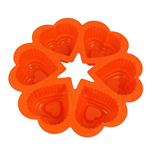 TTLIFE DIY Cake Molds 6 love Heart Shape Silicone Soap Mold Silicone Cake Molds 3D Muffin Sweet Candy Tray Baking Pastry Tools