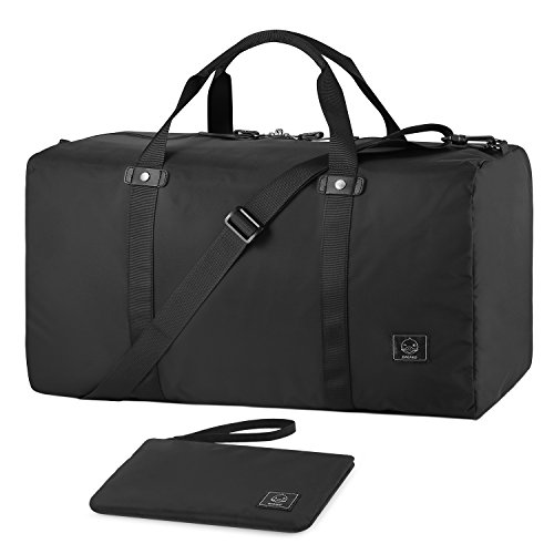Cabin Bag (GAGAKU 45L Foldable Travel Duffel Bag Packable Lightweight Duffle Flight Cabin Bags for Travel - Black)