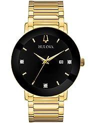 Bulova Men's 42mm Modern Black IP and Goldtone Stainless Steel Bracelet Watch