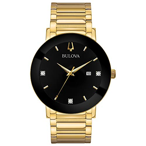 (Bulova Men's Diamond - 97D116 Gold/Black One Size )