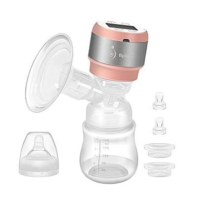 Bomba de leche eléctrica portátil para lactancia, bomba de leche para bebé recargable con nivel de masaje ajustable y nivel de succión y protector de reflujo.