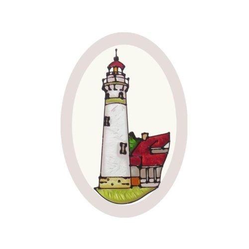 Michigan Seul Choix Lighthouse Painted Glass Suncatcher O-1069