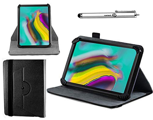 Navitech Black Leather Case Cover with 360 Rotational Stand and Atlas Stylus Compatible with The Yuntab Tablet 9.6 Inch   Yuntab K98 9.6 Inch A7 MT6580