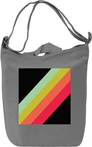 Abstract Lines Print Borsa Giornaliera Canvas Canvas Day Bag| 100% Premium Cotton Canvas| DTG Printing|