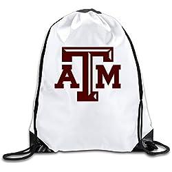 Texas A&m University Men's Women's Shoulder Drawstring Bag Backpack String Bags School Rucksack Gym Handbag