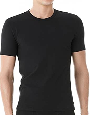 Calvin Klein Men's Cotton Stretch Crew - 2 Pack, Black, Small
