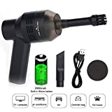 KOBWA USB Keyboard Cleaner, Rechargeable Mini Computer Vacuum Dust Cleaner 2 Types Nozzles & 2 Sponge Filter Cleaning Mechanical Keyboard, Hair, Car Device, Cigarette Ash, Pet House, etc