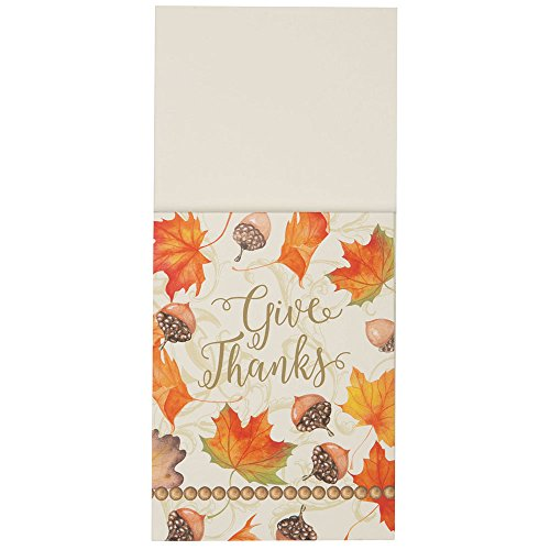 Gold Fall Leaves Thanksgiving Silverware Wraps, 8ct -