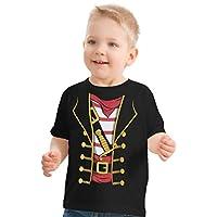 Buccaneer pirata de niños pequeños o niñas | Disfraz de Halloween para niños pequeños Camiseta (Toddler, 3T) Negro