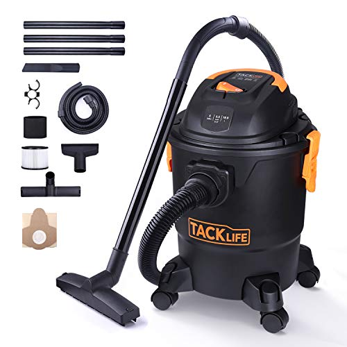 TACKLIFE Wet Dry Vacuum, 5 Gallon, 5.5 Peak HP with 20 FT Clean Range, 4-Layer Filtration System and Safety Buoy Technology for Dry/Wet/Blowing, Multipurpose Accessories Included - PVC01A by TACKLIFE (Image #9)