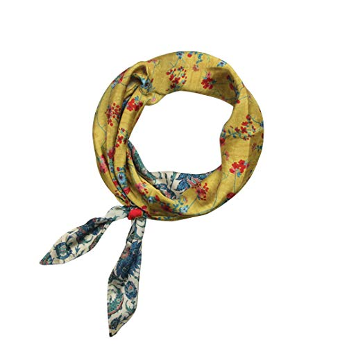 Banded Diamond Bandana Red, Blue and Yellow Floral