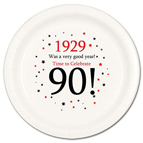 1929-90th Birthday Dessert Plate (8 Count Package) by Partypro]()