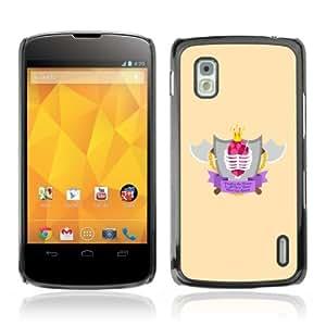 YOYOSHOP [Cool Axe & Shield Badge] LG Google Nexus 4 Case