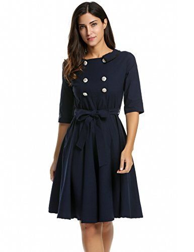 ANGVNS Womens Sleeve Vintage Evening