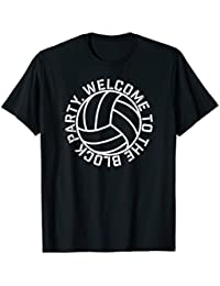 Volleyball Welcome to the Block Party elite player fun shirt