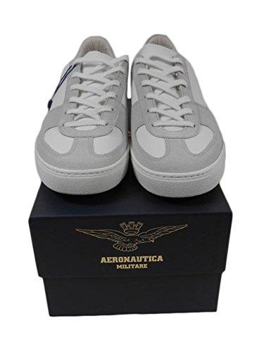 Sneakers It Chaussures 42 Aeronautica N Cuir Am Militare S1 Blanc 1ZaPqvw