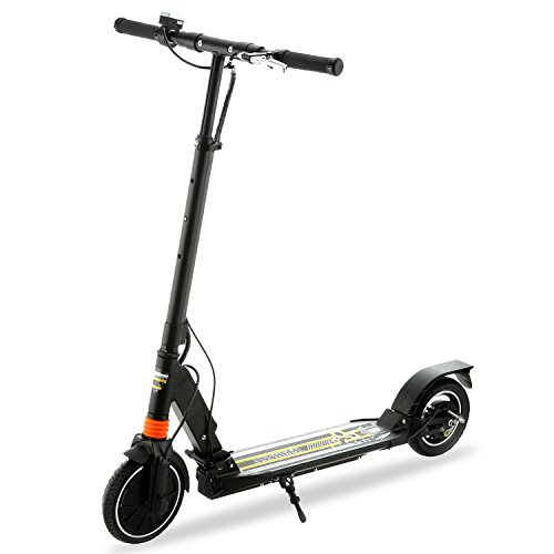 Electric Mobility Scooter Manual (Kick Scooter,Foldable Electric Adult/Teen Kick Scooter City Urban Commuter Street Push Scooter- Easy-Folding, Dual Suspension, Aluminum Alloy Frame, Supports 220lbs Weight (Black))