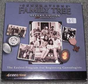 Generations Family Tree Software Deluxe Edition 6.0 Premier Genealogy Starter Kit by Generations 1912