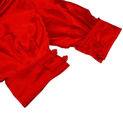Tai Andux Uniformes Fu Rouge Unisexe Vêtements Kung Traditionnels tjf01 Chi Ss Chinois n1pqxSpT