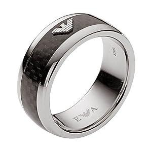 Emporio Armani Men's Black Ring EGS1602040