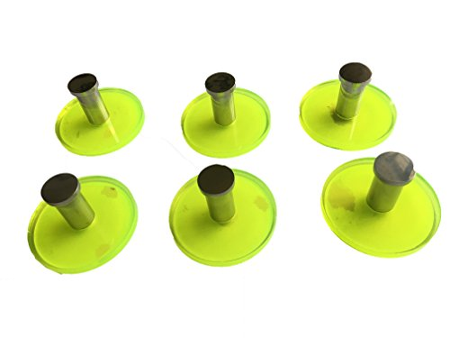KOLACEN Heavy Duty Acrylic and 304 Stainless Steel Round 3M Strong Sticky Adhesive Hooks Wall Hanger for Towel Clothes Coats Hats Bags Kitchen Bathroom Green Pack of 6