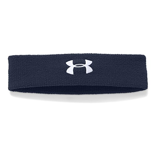 Under Armour Men's Performance Headband, Midnight Navy/White, One Size