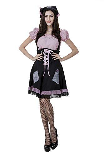 [Honeystore Women's Adult French Maid Halloween Costume Cosplay] (Homemade Halloween Costumes French Maid)