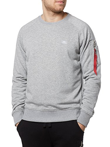 Alpha Industries Homme X fit Noir Sweat Grey shirt qavArn4wq