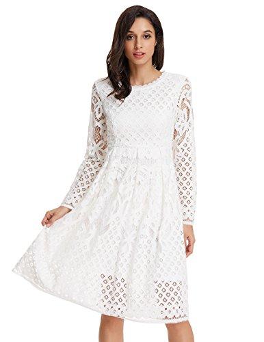 long sleeve a line cocktail dress - 2