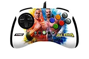 Mad Catz WWE All STARS BrawlPad - Volante/mando (Mando de juegos, Xbox, D-pad, Turbo, Volver, Start, Con cables, USB, 3 m) Múltiple