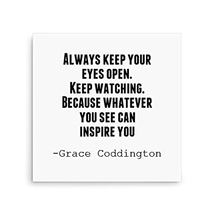 Skin4gadgets Life Quotes Quote Always Keep Your Eyes Open Canvas