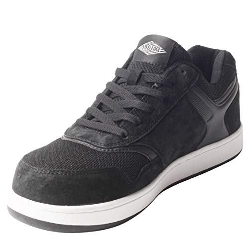Safety Toe Athletic Shoes - Skater Style, Steel Toe Shoe Sneakers (10, Black) ()