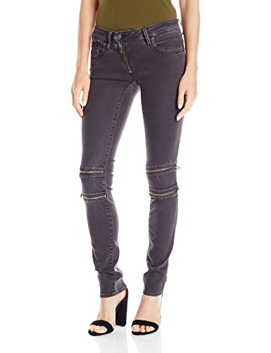 G-Star Raw Women's Lynn Mid Rise Custom Skinny Fit Colored Jean in Slander Superstretch Overdye, Crieff/Black, - Clothing Womens G-star