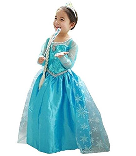 Huaqisen Girls Princess Costume Cosplay Fancy Dress ()