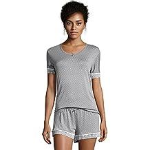 Kathy Ireland Women's Short Sleeve Shirt and Shorts Pajama Sleepwear Set