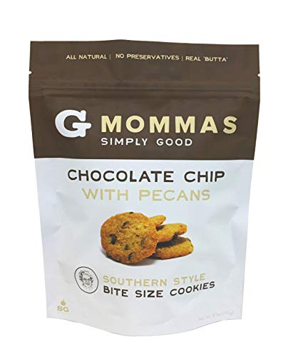 Chocolate Chip with Pecan Cookies + Crispy + Bite Sized - G Mommas Cookies (Single) (Bite Desserts Sized)