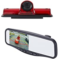 EchoMaster NVK4R Nissan NV 2011-16 Commerical Grade Backup camera kit includes Custom Fit Camera (PCAM-NV4-N) and 4.3 inch Rear Camera Display Mirror (PMM-4322-COM-PL)