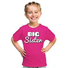 "Ann Arbor T-shirt Co. Little Girls' ""BIG SISTER"" | Cute Girl's Youth T-shirt"