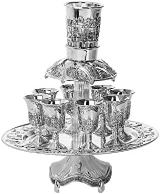 Silver Plated Fountain, 8 Cups