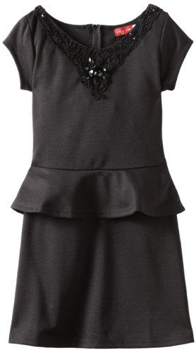 Ruby Rox Big Girls' Ponte Peplum Dress