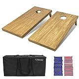 GoSports 4'x2' Regulation Size Wooden Cornhole Boards Set   Includes Carrying Case   Full Regulation Size Bean Bag Toss Boards