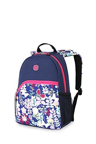 SwissGear Girl's Pink Floral Backpack Blue/ Pink Floral (Swiss Gear Backpack Girl)