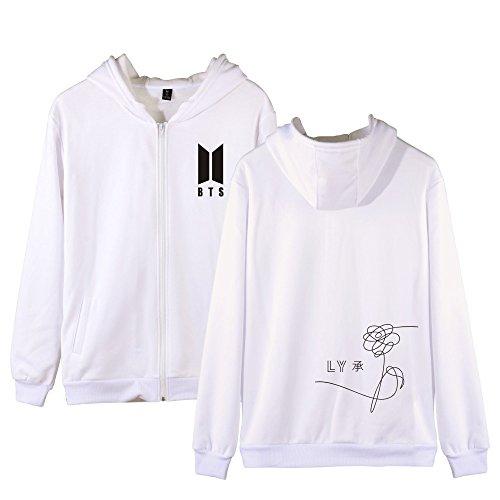 Gogofuture Maniche Love Bts Hoodie Yourself Lunghe White Sweatshirt Con E Uomo Popolare Unisex Felpe Donne Cappuccio Cappotto Giacche Per Cerniera qRpqrBw