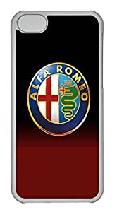 iPhone 5C Case, iPhone 5C Cases - Anti-Scratch Crystal Clear Back Bumper for iPhone 5C Alfa Romeo Car Logo 1 Shock-Absorption Hard Case for iPhone 5C
