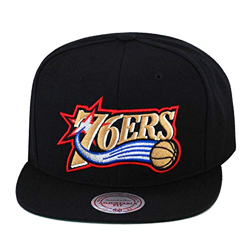 Mitchell & Ness Philadelphia 76ers Wool Solid HWC Adjustable Snapback Hat
