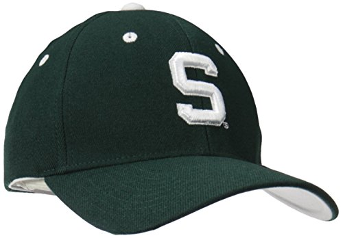 Michigan State Spartans Merchandise (NCAA Michigan State Spartans Men's ZH Stretch Fit Cap, Forest, X-Large)