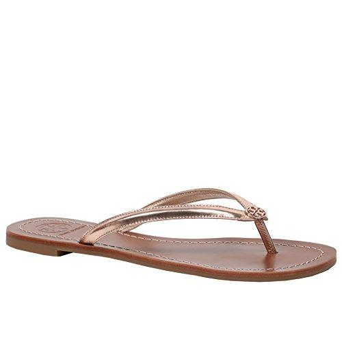 27e0990c467 Tory Burch Terra Thong Flip Flops Leather Thong Sandals (7