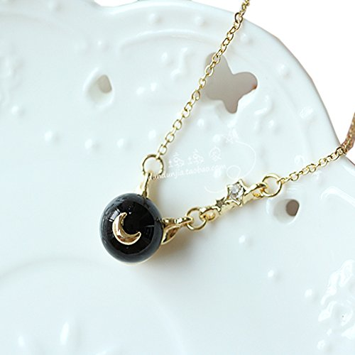 Cute Sailor Costume (Cosplay Japan Anime Luna Cat Necklace Women Girl Cute Pearl Pendant Chain PTK09)
